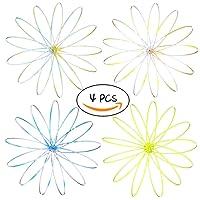 LFS 3D Magic Flow Ring giocattoli divertenti Kinetic Spring ARM Slinky Juggle Dance (4pz)