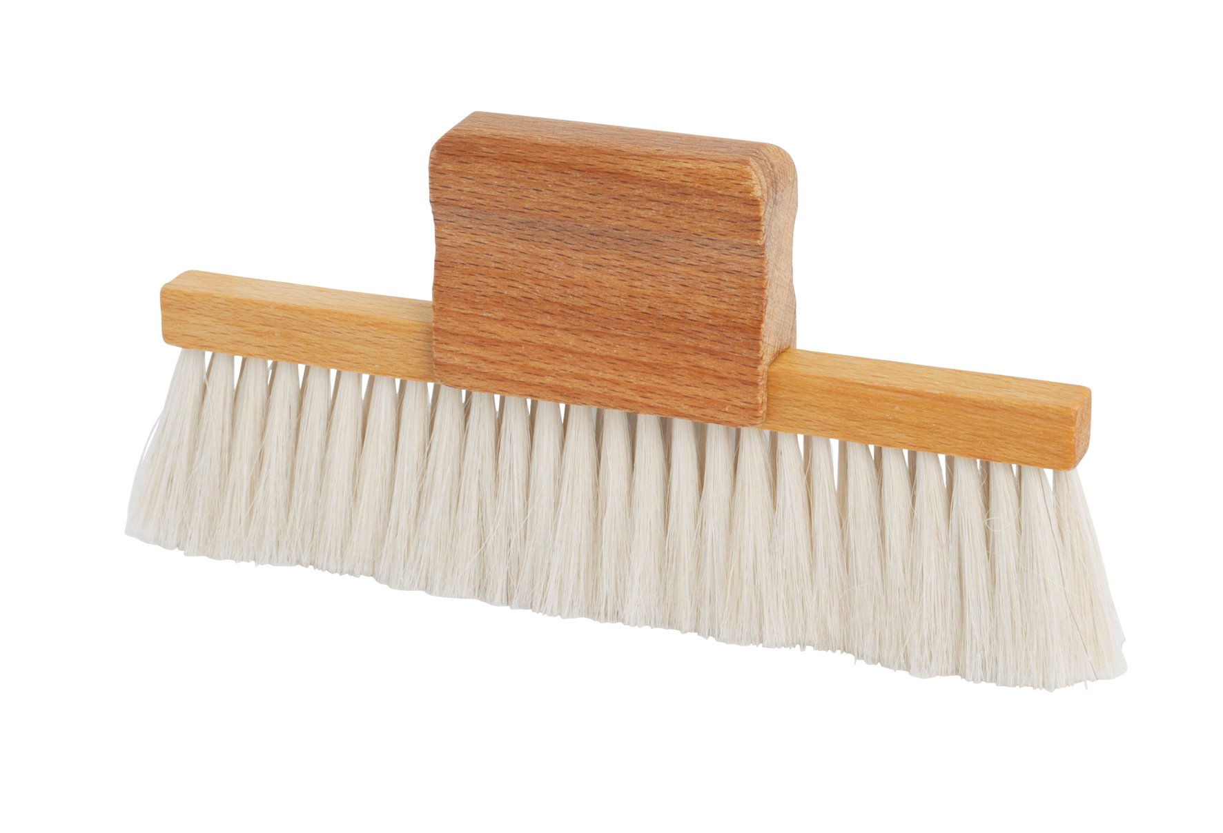 Redecker Goat Hair Table Brush with Oiled Beechwood Handle, 5-3/4 x 3-Inches