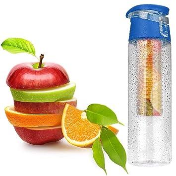 STRIR Plástico ecológico y sin BPA botella de agua,800ML BPA free botella agua deporte
