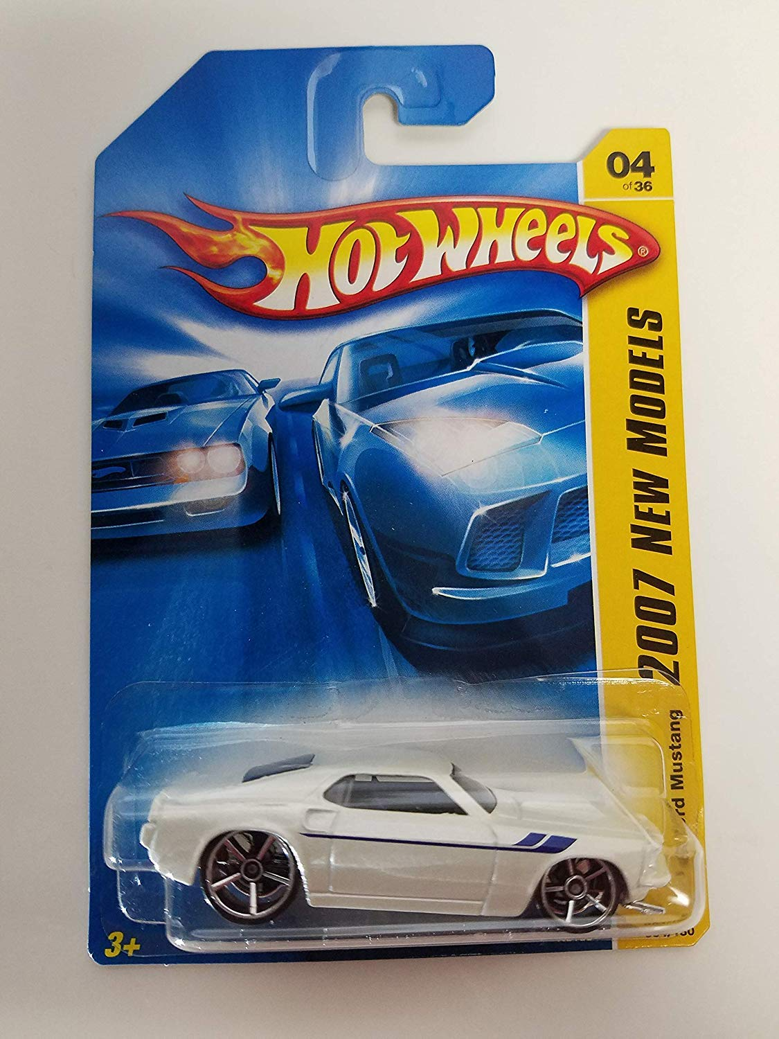 Amazon com mattel hot wheels 2007 new models 164 scale yellow 1969 ford mustang die cast car toys games