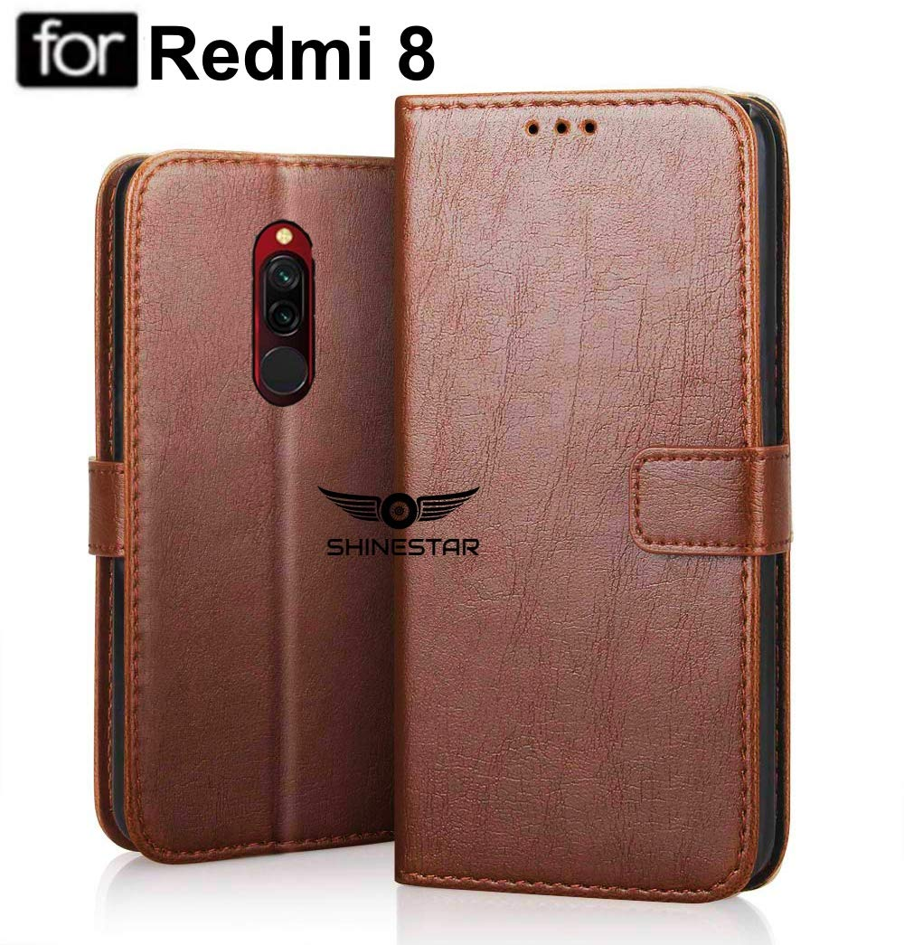 SHINESTAR PU Leather Flip Wallet Case with TPU Shockproof Cover for Mi Redmi 8 (Classic Brown, Mi Redmi 8) (B07ZMHWYKF) Amazon Price History, Amazon Price Tracker