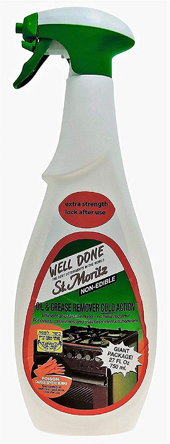 Well Done St. Moritz Oil & Grease Remover Cold Action - 27 Oz (750 ml) each - Pack of 4