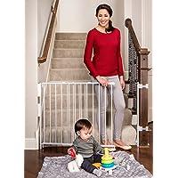 Regalo extra alto parte superior de la puerta de escaleras, con banister y kits de montaje en pared, 34 – 55 pulgadas de…