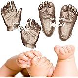 Anika-Baby BabyRice 3D Baby Casting Kit (Pack of 12, Large, Metallic Bronze)