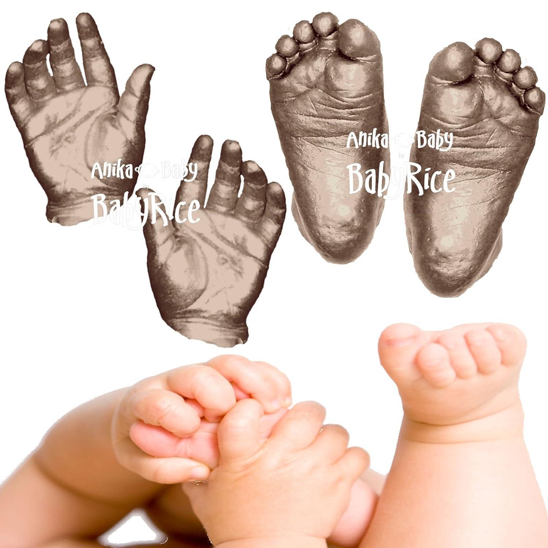 Anika-Baby BabyRice 3D Baby Casting Kit (Pack of 12, Large, Metallic Bronze)   B0037360OM