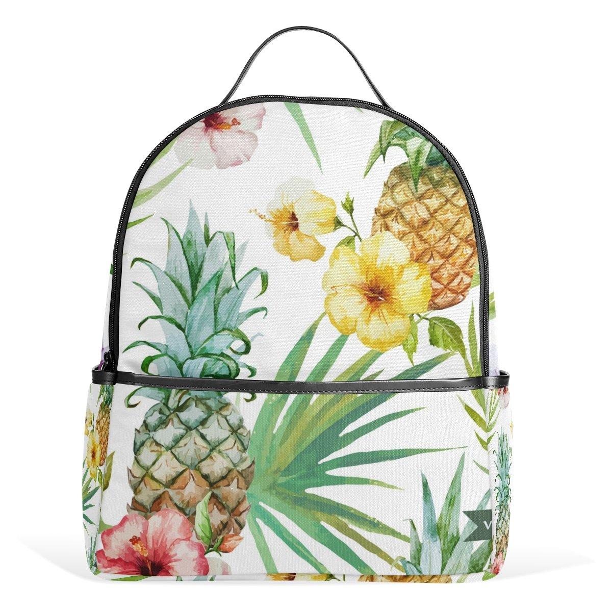 JSTeL RainforestリーフフラワーパイナップルスクールバックパックforボーイズGirls Bookbag   B01MU2WS6U