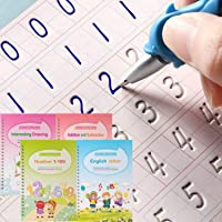 Magic Ink Copybooks for Kids Reusable Handwriting Workbooks for Preschools Grooves Template Design and Handwriting Aid…