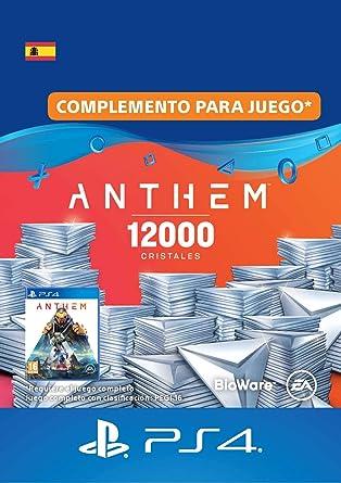 Pack de 12,000 cristales de Anthem | Código de descarga PS4 ...