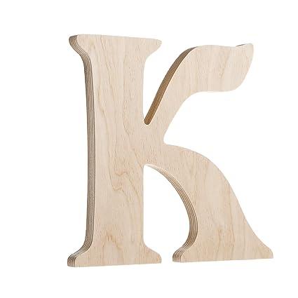 Amazoncom Darice U9130 K Fancy Wood Letter K