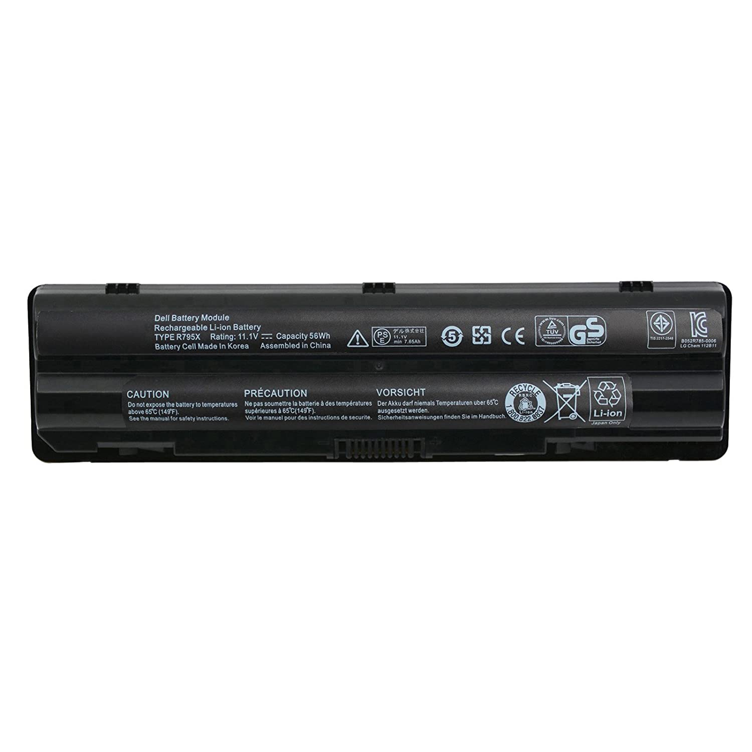 Amazon.com: Angwel 6Cell 11.1V 56WH Replacement XPS 14 Laptop Battery for Dell  XPS 15 XPS 17 L401x L501x L502x L701x L702x -- 1 Year Warranty: Computers &  ...