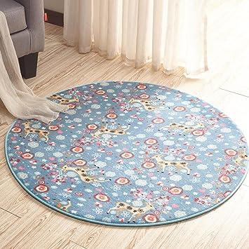 MUMA Runde Teppich Yoga Matte Kinder Zimmer Schlafzimmer Wohnzimmer Teppiche  ( Farbe : 2 ,