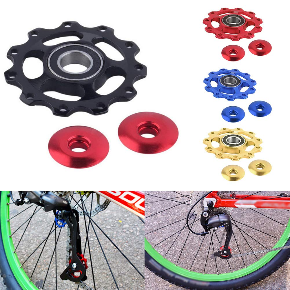 Sguan-wu Fahrrad Schaltwerk Aluminiumlegierung 11T MTB Fahrrad Lager St/ützrad Schaltwerk Riemenscheibe,f/ür Mountainbike Fahrrad,Fahrradzubeh/ör