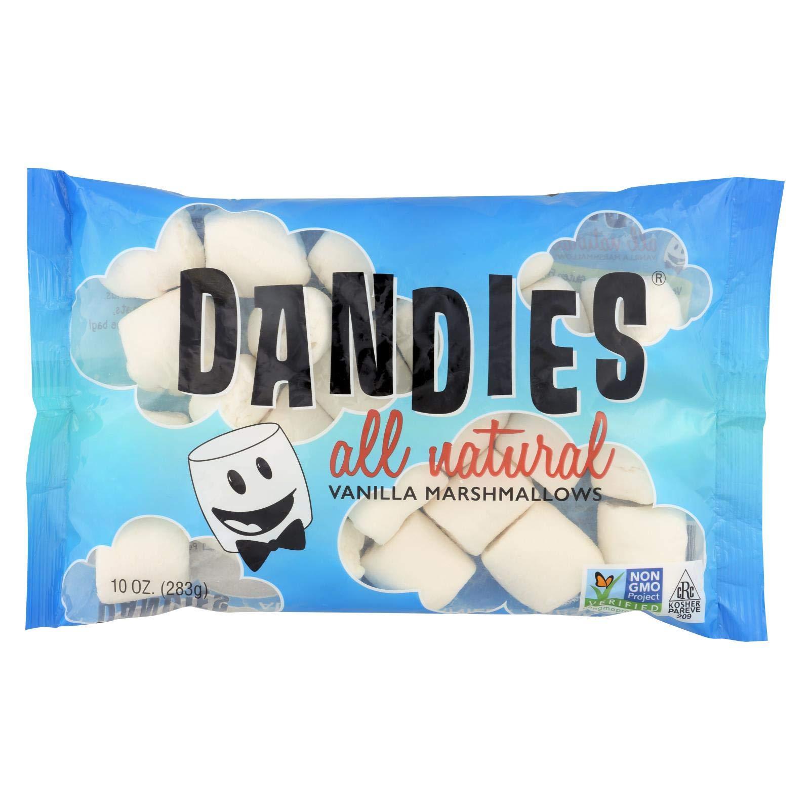 Dandies Air Puffed Marshmallows - Classic Vanilla - Case of 12 - 10 oz. by Dandies