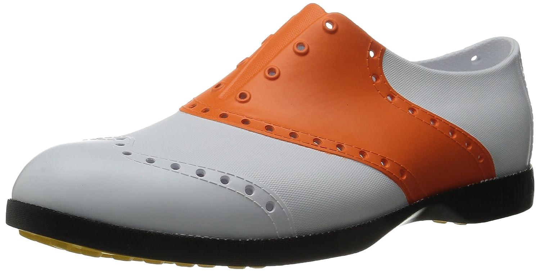 Biion(バイオン) BI1010 ゴルフシューズ BS-1010 白/オレンジ B010T758CS M3(22cm)