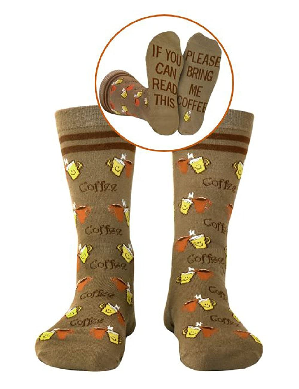 If You Can Read This Luxury Cotton Designs Bring Me Coffee Socks Men Women Great Gift