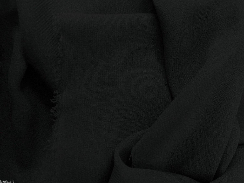 58 w Black Chiffon Smooth Light Weight Polyester Fabric 50 Yard Lot by Fabric Cult   B01171YVC8