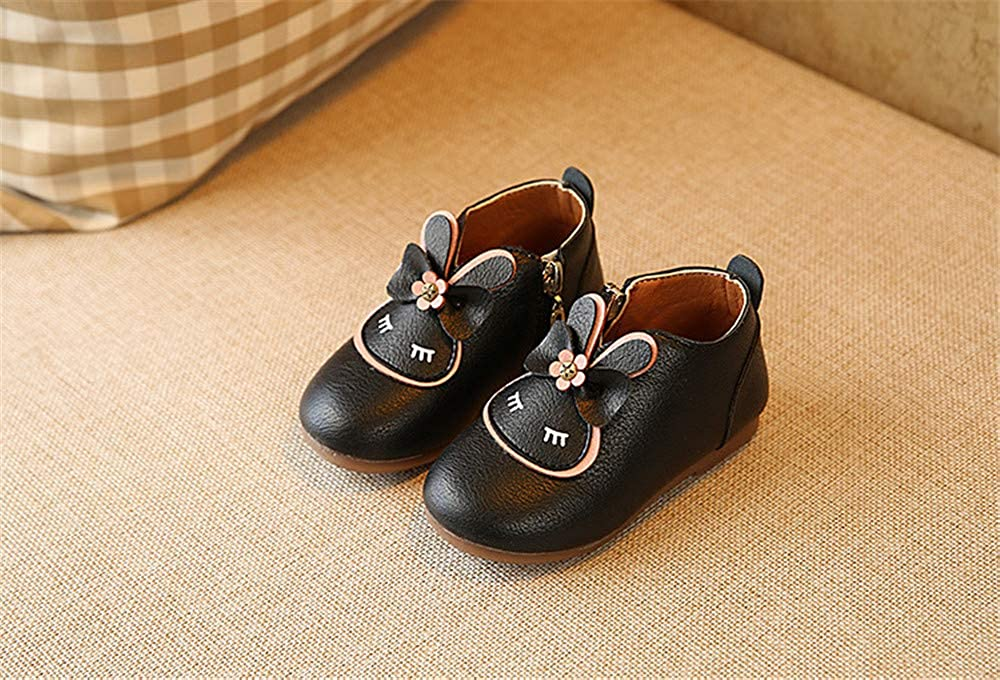 COLOV Winter Baby Girl Cute Leather Outwear Waterproof Warm Boot Shoes