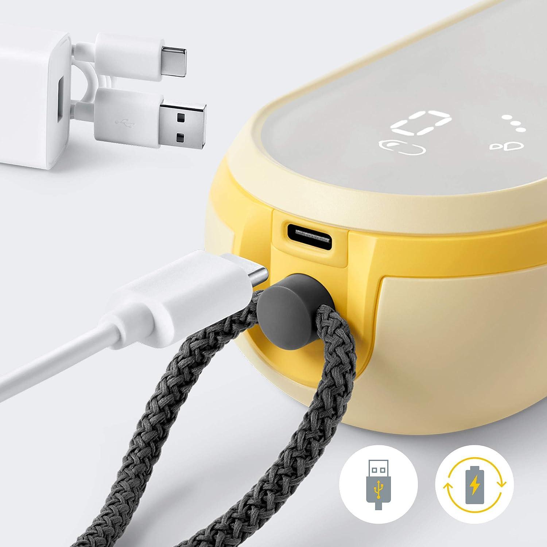 4x f/ür mehr Milch in weniger Zeit inkl 1x /über USB wiederaufladbar ultra leicht Brusthauben, Flaschen K/ühl- und Tragetasche, Akku Medela elektrische Milchpumpe Freestyle Flex
