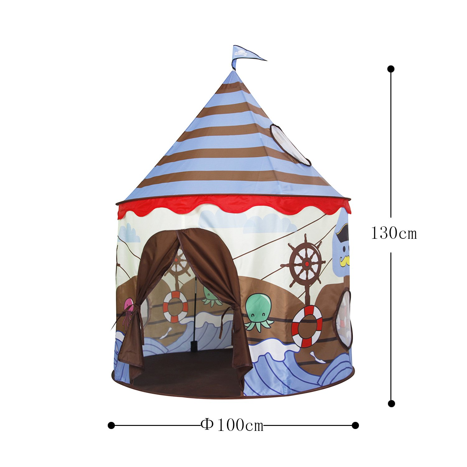 Homfu Play Tent For Kids Castle Playhouse For Children Boys Viking Pattern Popup Tent