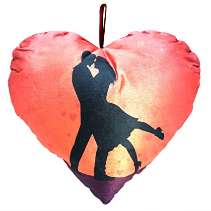 Buy Murens Multi Colour Love Symbol Heart Shape Cushion For