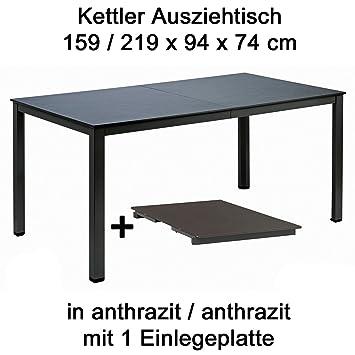 Amazon De Kettler Ausziehtisch 159 Bis 219 Cm X 94 Cm In Anthrazit