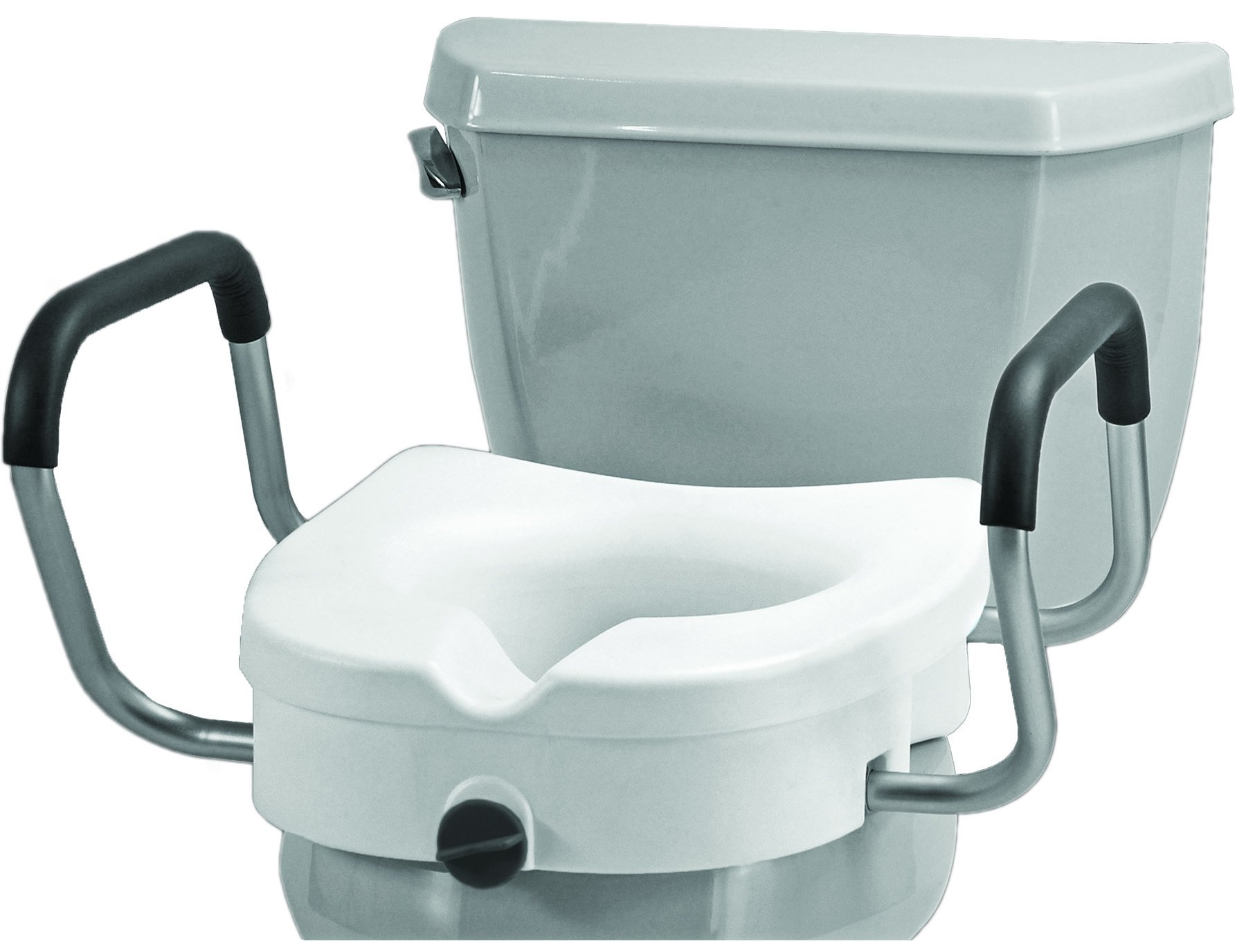 NOVA Medical Products Raised Toilet Seat with Detachable Arms, White, 5.5 Pound by NOVA Medical Products