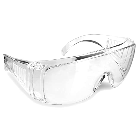 e007685b551d Rugged Blue Visitor Clear Safety Glasses (12) - - Amazon.com