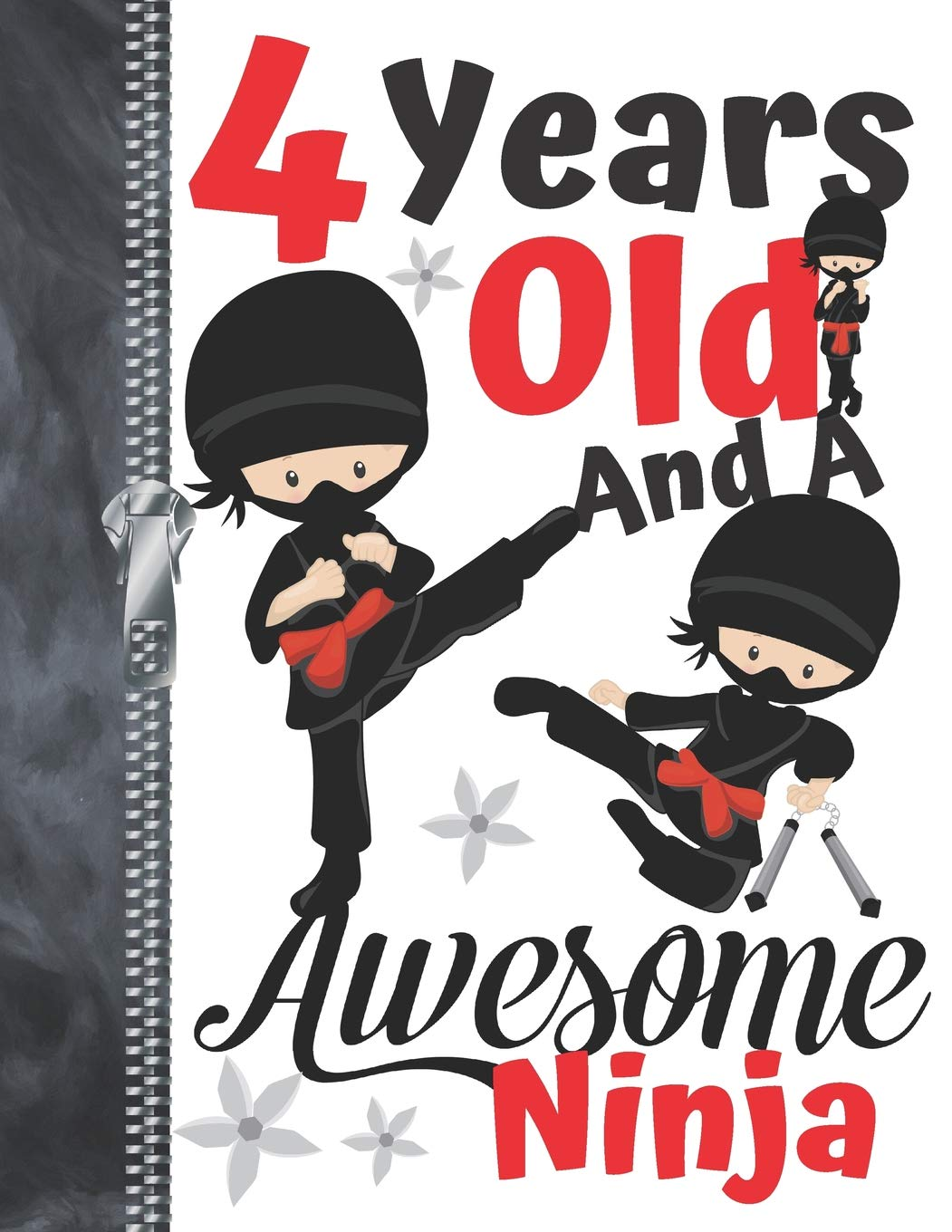 4 Years Old And A Awesome Ninja: Martial Arts Doodling ...