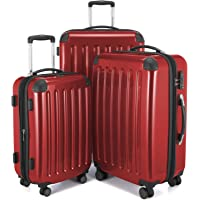 Hauptstadtkoffer Alex Set of 3 Luggages Suitcase Hardside Spinner Trolley Expandable TSA, Red, Set