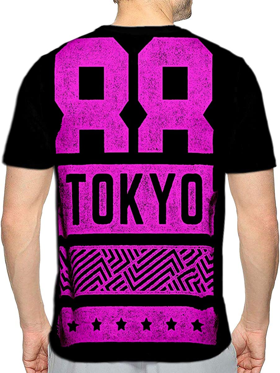 3D Printed T-Shirts Flamingo On Pink Standing One Leg African Exotic Bird Short Sleeve Tops Tees