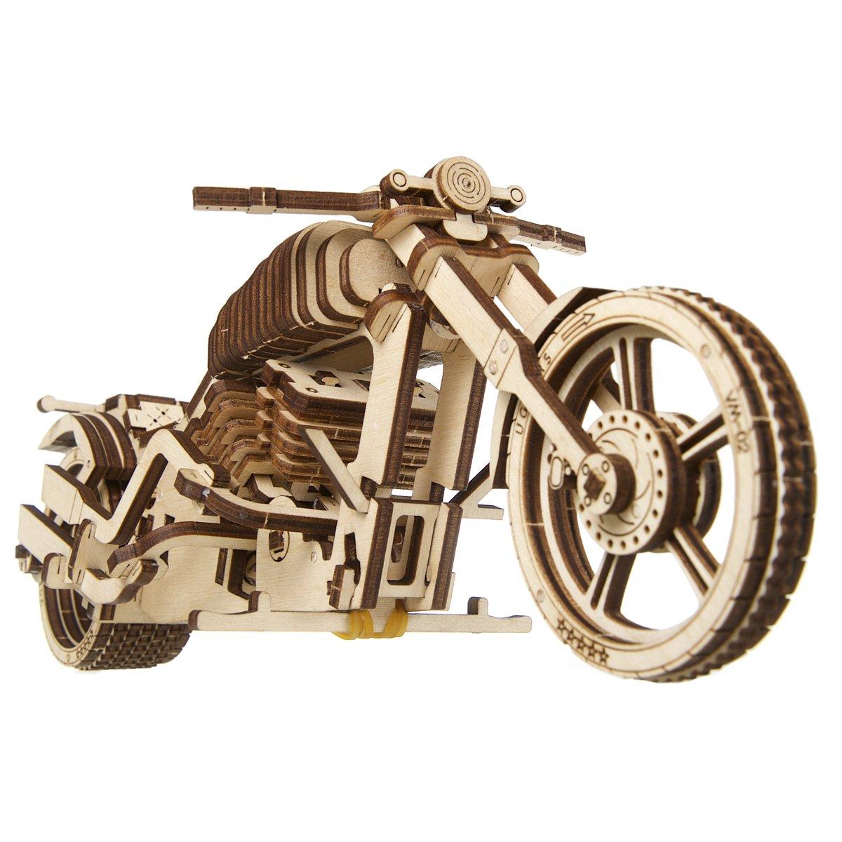 UGEARS Bike VM-02 Mechanical Wooden 3D Model Self Assembling Adult Teen Gift