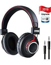 Over Ear Bluetooth Headphones [2019 Newest Version] Wireless Headset - High End CSR8645 Chip Apt-X Lossless Hi-Fi Stereo, Handmade Style Extra Comfortable and Lightweight, Deep Bass Headset with Mic