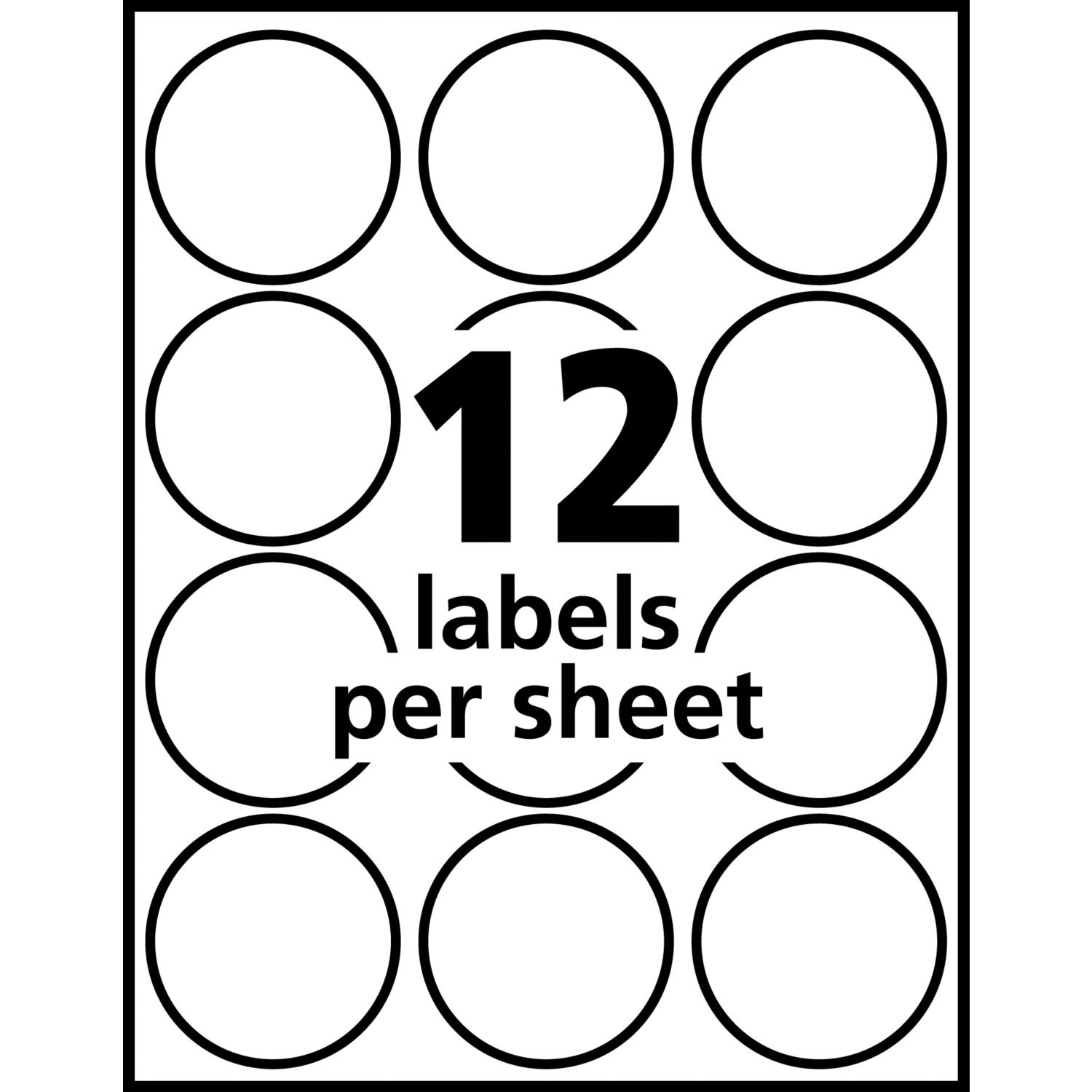 Avery Print to The Edge Round Labels, 2'' Diameter, Matte White, Pack of 300 (22877) by Avery (Image #3)