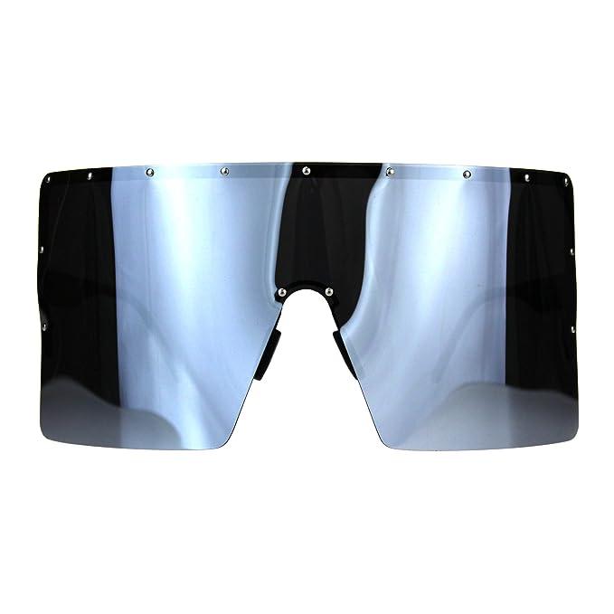 Amazon.com: Polarizadas espejo lente anteojos de sol visera ...
