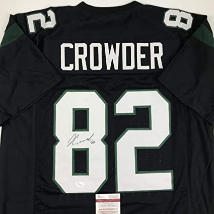 Autographed/Signed Jamison Crowder New York Black Football Jersey ...