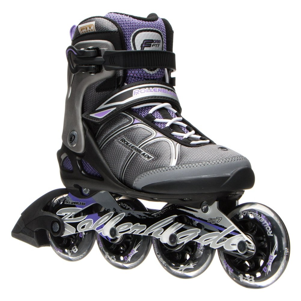 Rollerblade Macroblade 84W Alu 2016 Fitness/Workout Skate, Black/Purple, US Size 7