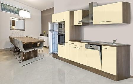 Respekta Built In Kitchen Unit Kitchen Island 370 Cm Vanilla York
