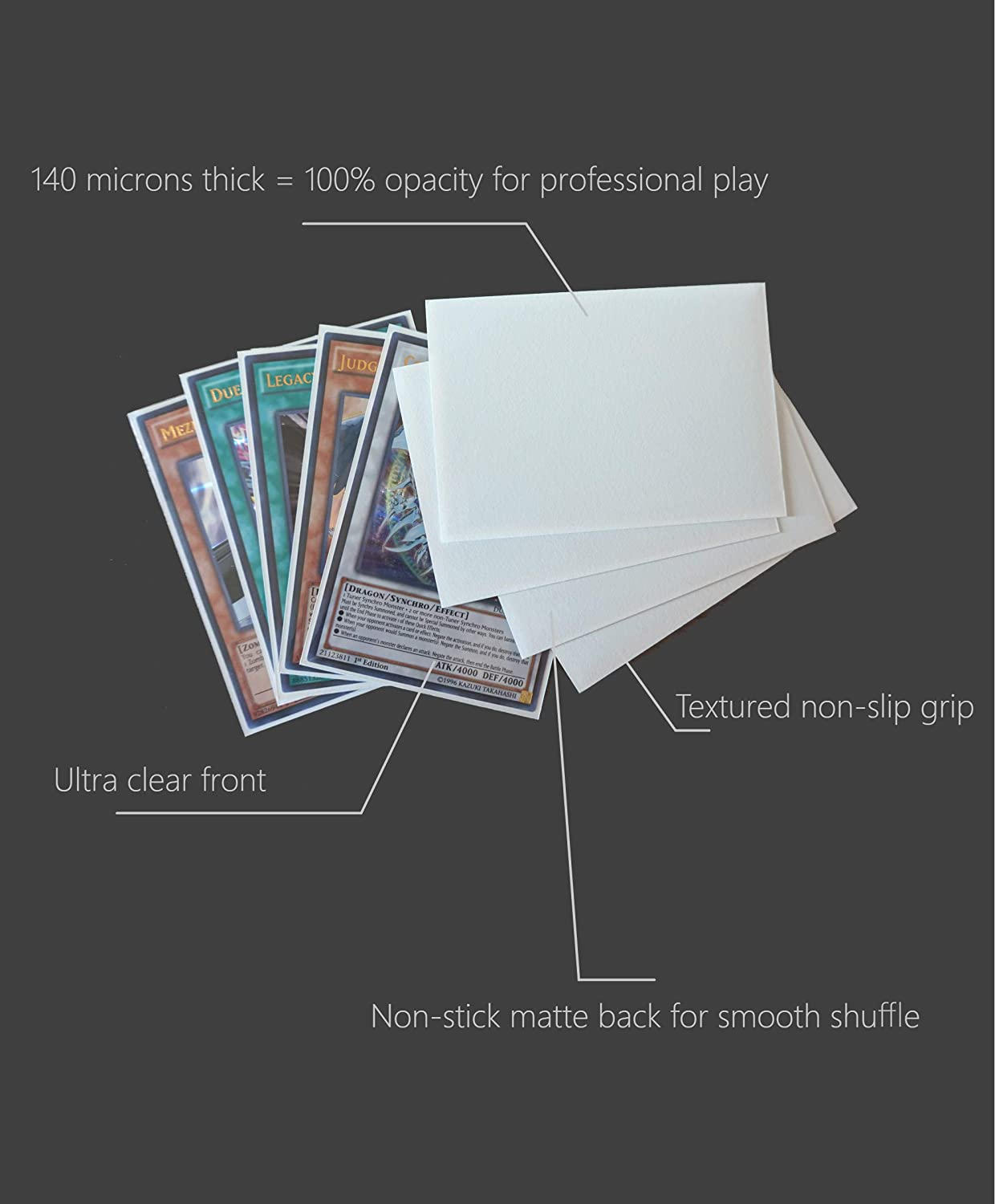 150 Sleeves//White Cardfight! Vanguard /& More Small Japanese Sized Trading Card Sleeves Deck Protector for Yu-Gi-Oh
