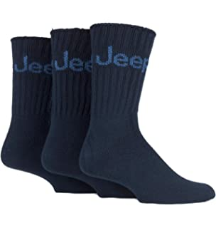 d4ded9c9fef 3 Pairs Mens Black Jeep Wool Rich Hiking walking Socks 39-45 JE2 ...