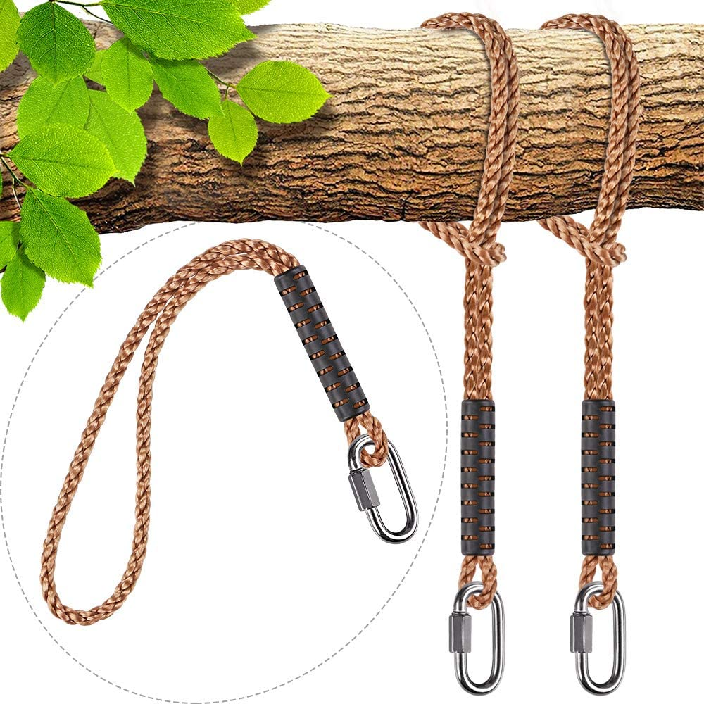 Amazon Com Seleware Hammock Straps Tree Swing Rope Hammock Chair Hanging Rope Kit W Stainless Steel Carabiner Snap Hook Holds To 1000lbs For Outdoor Playground Swings Hammock Yoga Boxing 8 Ft 2 Pack Garden