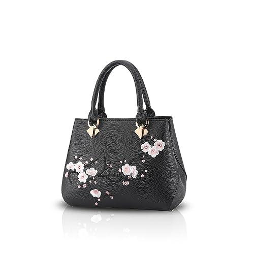 26f9cafeb73 NICOLE&DORIS Floral Women Handbag Crossbody Shoulder Bag Tote small top  handles