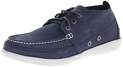 Crocs Men's 15364 Walu Chukka Boot,Navy/Light Grey,12 ...