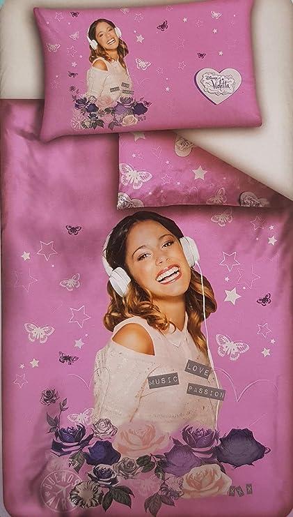 Copripiumino Parure 2 Pezzi Sacco Federa Disney Singolo 1 Piazza 100 Cotone Violetta Rose Rosa Amazon It Casa E Cucina
