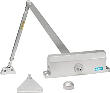 Size 3 Global Door Controls Commercial Door Closer in Duronotic with Backcheck