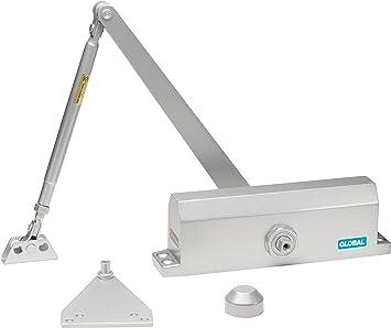 Global Door Controls Commercial Door Closer in Aluminum Size 2