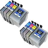 [安心1年保証] 4色セット×2セット brother プリンター インク LC119/115-4PK LC119 LC115 互換インク セット ICチップ付 大容量 汎用 インクカートリッジ LC119BK LC115C LC115M LC115Y MFC-J6975CDW MFC-J6973CDW MFC-J6970CDW MFC-J6770CDW MFC-J6573CDW MFC-J6570CDW