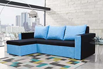 mojito corner sofa bed with underneath storage in black and light rh amazon co uk City Lights Sofa City Lights Sofa