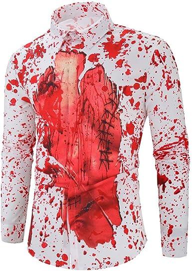 LANSKIRT Camisas Estampadas Hombre 2019 Halloween Tops Informal Camisetas Holgada con Estampadas Ropa Divertidas Talla Grande: Amazon.es: Ropa y accesorios