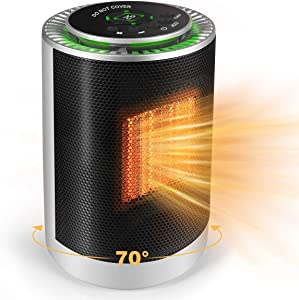 Electric Space Heater, 1200W PTC Portable Small Mini Quiet Space Heater with Thermostat Personal Ceramic Fast Heater Fan for Office Desk, Home, Bedroom, Indoor