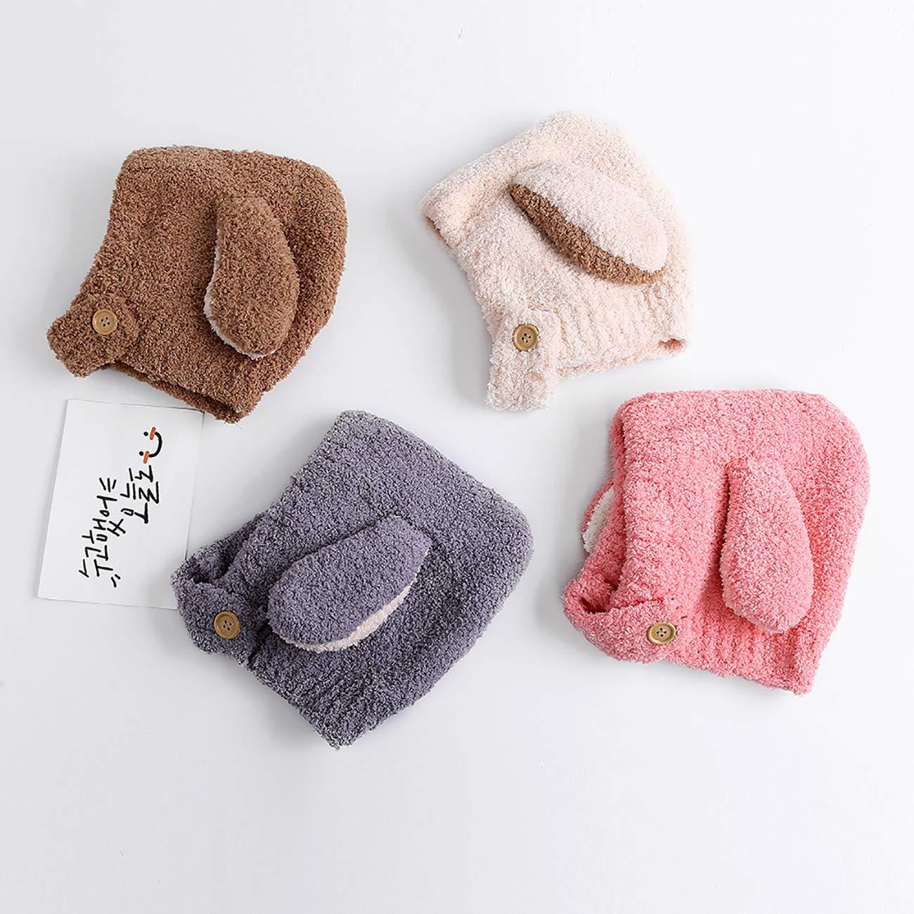 Uheng Baby Kids Girls Boys Winter Soft Warm Hats Infant Toddler Children Beanie Cap Earflap Hat